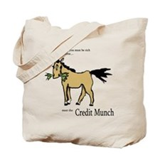 Credit Munch Horse Tote Bag