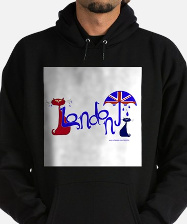 London Kitty Hoodie (dark)