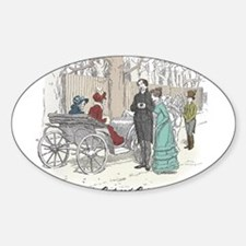 Pride & Prejudice Ch 28 Oval Decal
