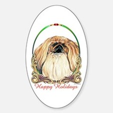 Pekingese Dog Oval Decal