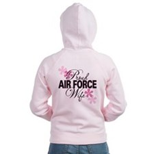 Proud Air Force Wife Zip Hoodie