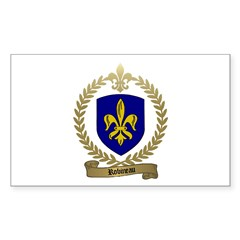 ROBINEAU Family Crest Rectangle Decal