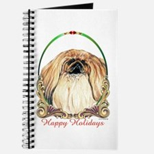 Pekingese Peke Happy Holiday Journal