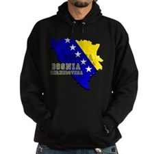 Flag Map of Bosnia Hoodie