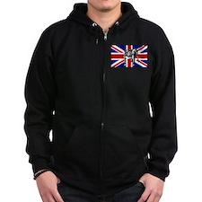 British Bulldog Flag Zip Hoodie