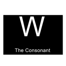 W The Consonant Postcards (Package of 8)
