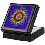 Rainbow Tie-dye Mandala Keepsake Box