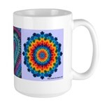 Raspberry Heart tie-dye art mug, large