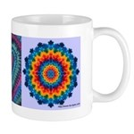 Raspberry Heart Tie-dye Art Mug