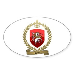 ROBIN Family Crest Oval Decal