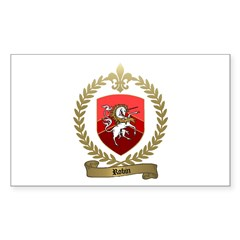 ROBIN Family Crest Rectangle Decal