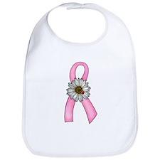 Pink Ribbon, Daisy & Ladybug Bib