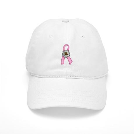Pink Ribbon, Daisy & Ladybug Cap