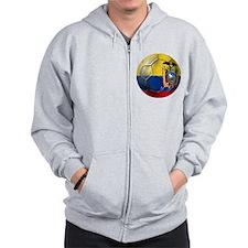 Ecuador Soccer Ball Zip Hoodie