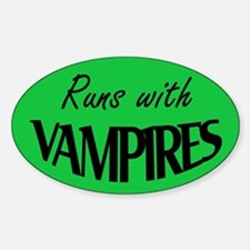 Twilight - Runs with Vampires Oval Decal