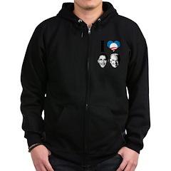 I Love Obama Biden Zip Hoodie (dark)