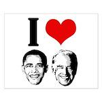 I Heart Obama Biden Small Poster