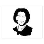 Michelle Obama screenprint Small Poster