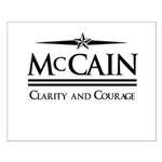 McCain / Clarity and Courage Small Poster