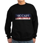 MCCAIN for President Sweatshirt (dark)