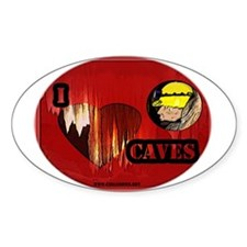 I love Caves Oval Decal