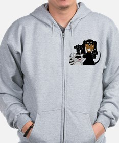 Coonhound and Raccoon Zip Hoodie