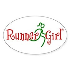RunnerGirl Oval Decal