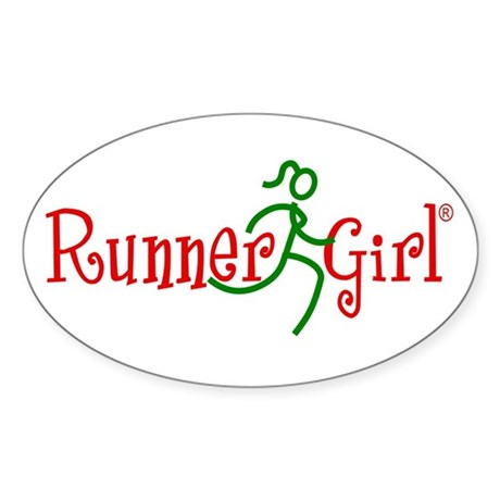 RunnerGirl Oval Sticker