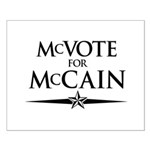 McVote for McCain Small Poster