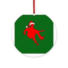 Christmas Skateboarder Ornament (Round)