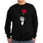 I Love Sarah Palin Sweatshirt (dark)