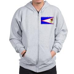 American Samoa Flag Zip Hoodie