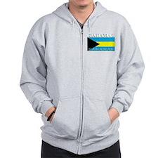 Bahamas Bahama Flag Zip Hoodie