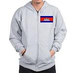 Cambodia Blank Flag Zip Hoodie