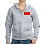 China Chinese Blank Flag Women's Zip Hoodie