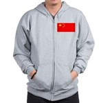 China Chinese Blank Flag Zip Hoodie