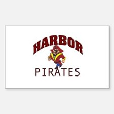 Harbor Pirates Rectangle Decal