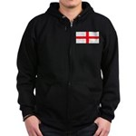 England English Flag Zip Hoodie (dark)