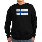 Finland Finish Blank Flag Sweatshirt (dark)