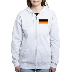 Germany German Blank Flag Zip Hoodie