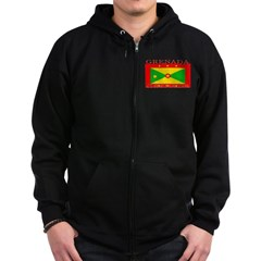 Grenada Grenadian Flag Zip Hoodie