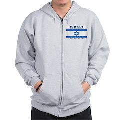 Israel Israeli Flag Zip Hoodie