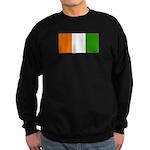 Ivory Coast Blank Flag Sweatshirt (dark)