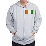 Ivory Coast Blank Flag Zip Hoodie
