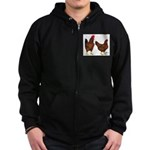Red Broiler Pair Zip Hoodie (dark)