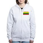 Lithuania Lithuanian Flag Women's Zip Hoodie