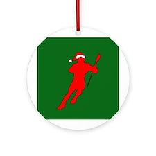 Christmas Lacrosse Ornament (Round)