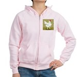 Cornish/Rock Cross Hen Women's Zip Hoodie