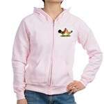 Buff Catalana Chickens2 Women's Zip Hoodie