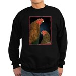 Chantecler Rooster and Hen Sweatshirt (dark)